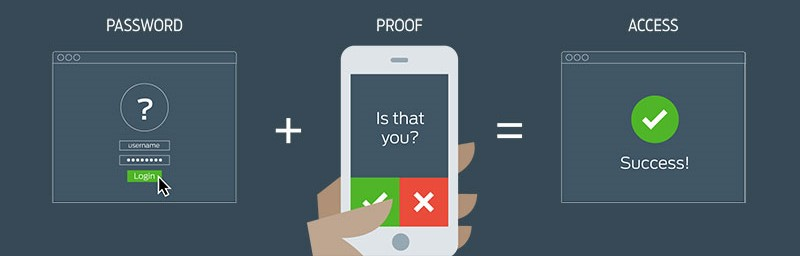 Duo authentication prompts with a button on your mobile to confirm your identity