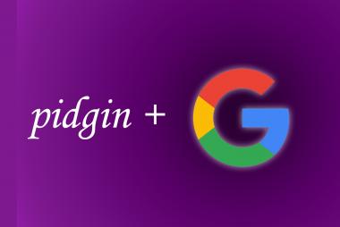 pidgin and google apps logo
